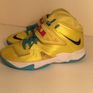Nike Shoes - LEBRON JAMES NIKE X SONIC YELLOW POP ART SNEAKERS 3201c1b2617b
